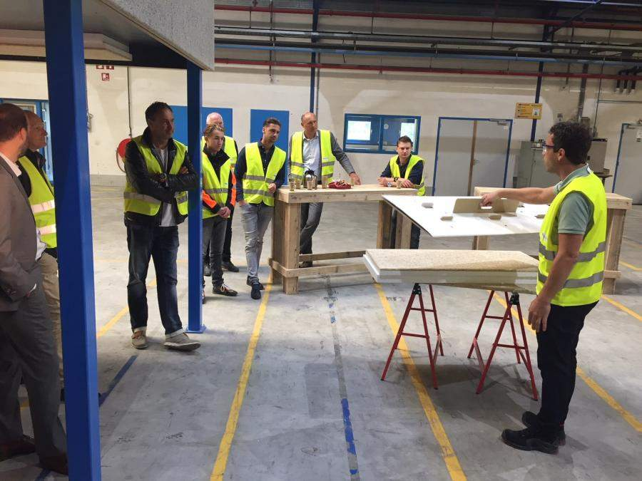 Montage training in Heraklith Experience Center Oosterhout